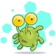 Cartoon Cute Green Alien With Big Eyes - GraphicRiver Item for Sale