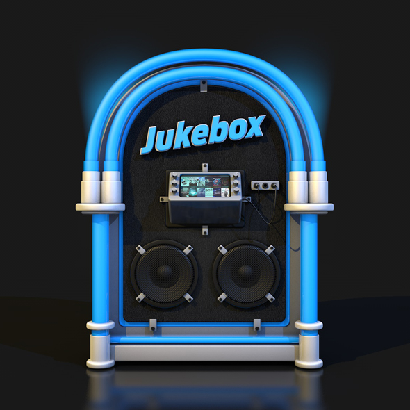 ROCK JUKEBOX METAL LEATHER FLUO - 3DOcean Item for Sale
