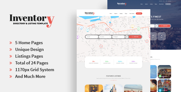 Inventory – Directory & Listing PSD Template
