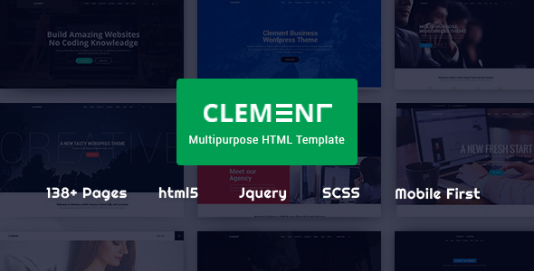 Clement - Responsive Multi-Purpose Multipage & One Page Html Template - Corporate Site Templates