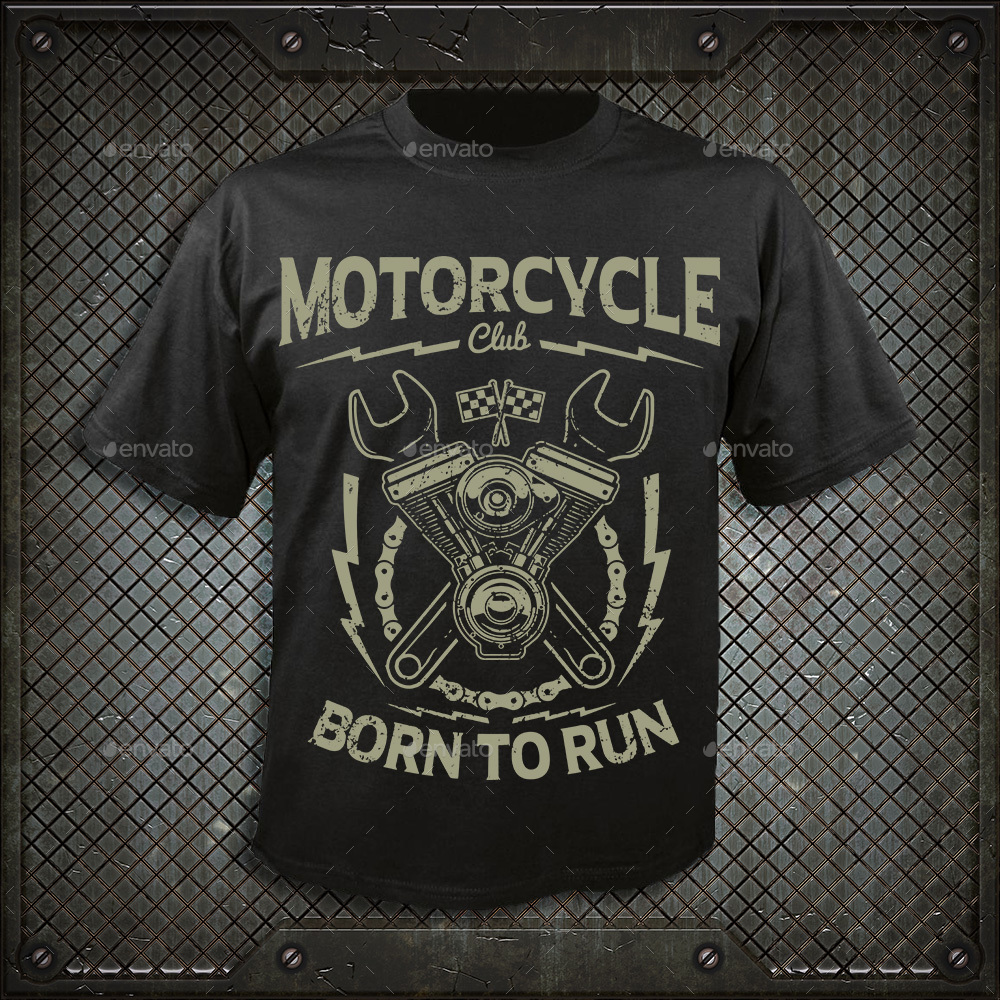 motorcycle club t shirt design by durro graphicriver