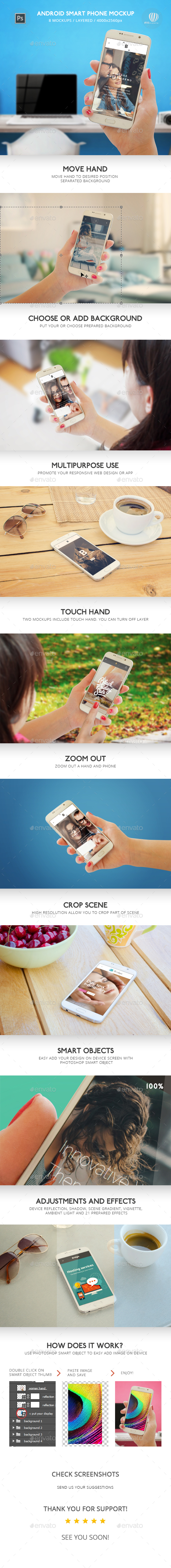 Smart Phone Mockup - Mobile Displays