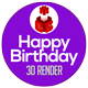 Happy Birthday 3D Render - GraphicRiver Item for Sale