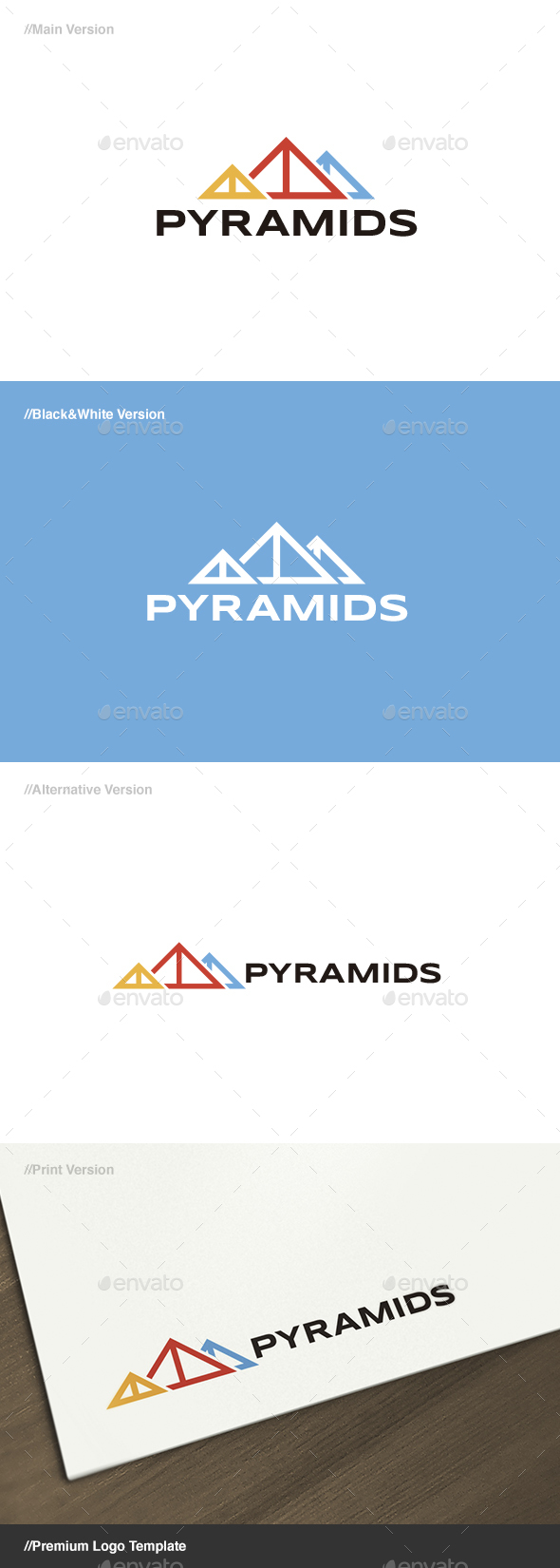 Pyramids Logo - Buildings Logo Templates