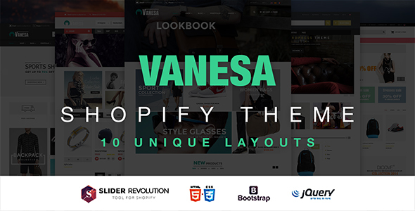 Vanesa - Responsive Shopify Fashion Theme - Fashion Shopify