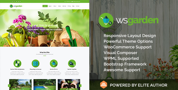 WS Garden - Responsive Gardening WP Theme - Business Corporate