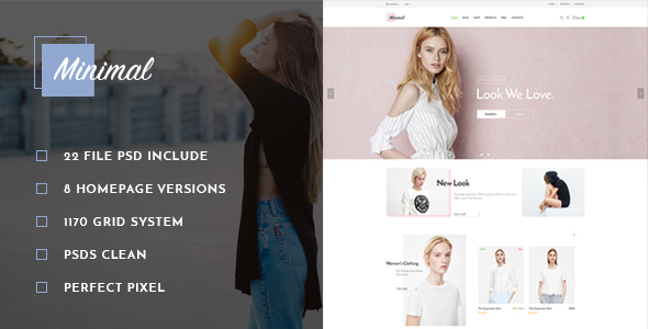 St Minimal Fashion PSD Template