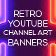 3 Retro Youtube Channel Art Banners - GraphicRiver Item for Sale