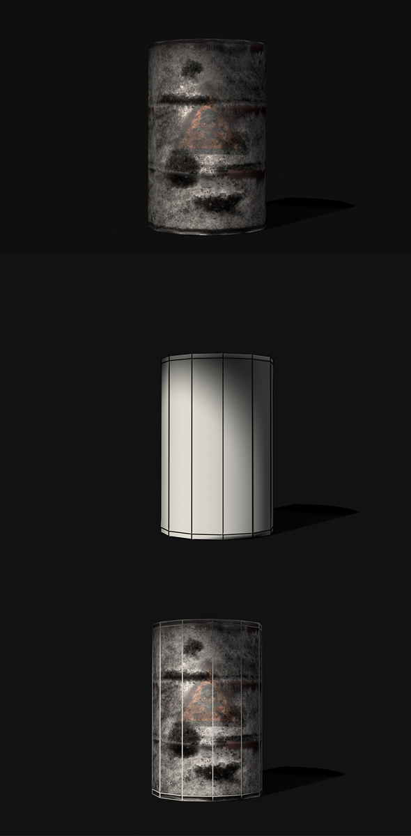 Oil Barrel 3d Model - 3DOcean Item for Sale