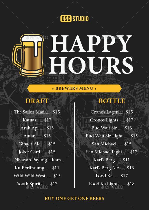 Happy Hours Flyer By Dsc Studio Graphicriver