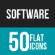 Software Development Flat Multicolor Icons