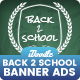 Back to School Banners Ads