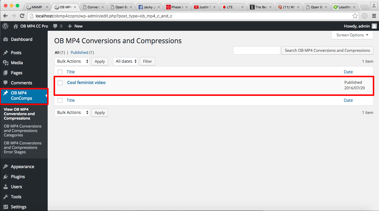 Open Beacon MP4 Conversion and Compression with FFmpeg Pro
