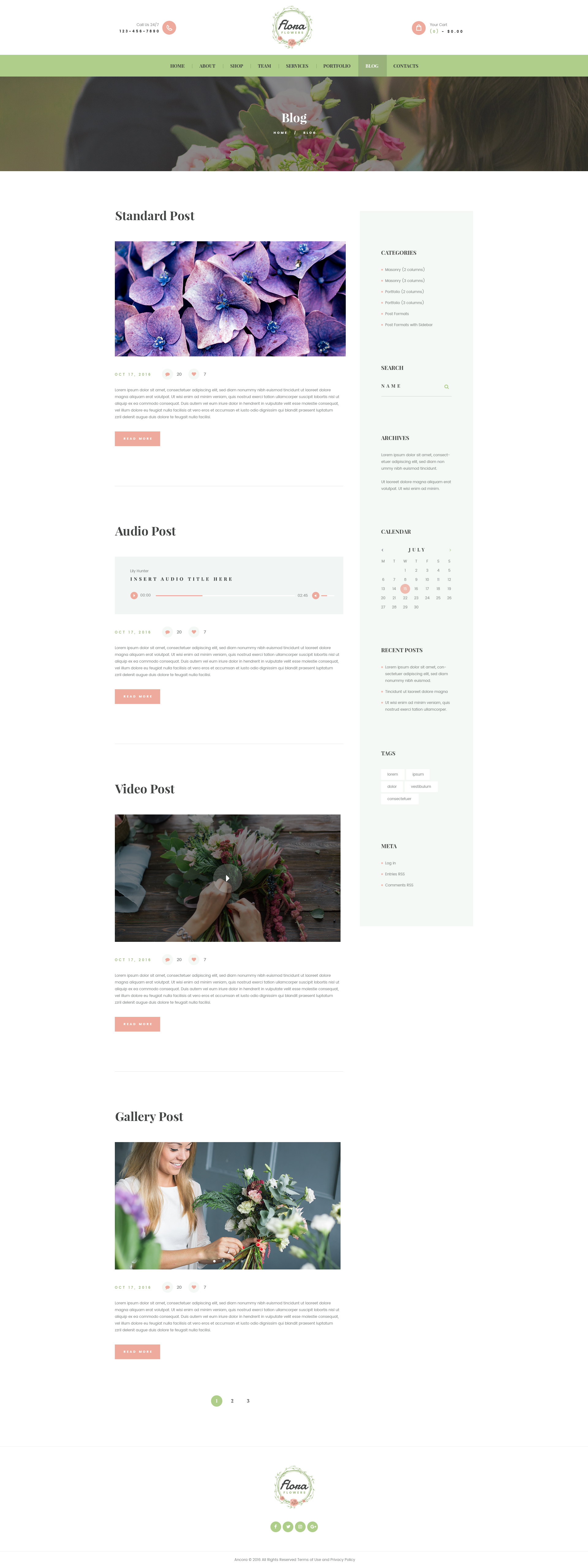 flowers boutique and florist wordpress theme by ancorathemes