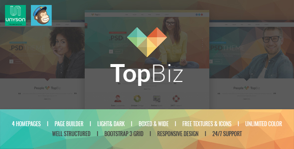 TopBiz - Responsive Corporate WordPress Theme - Corporate WordPress