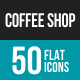 Coffee Shop Flat Multicolor Icons