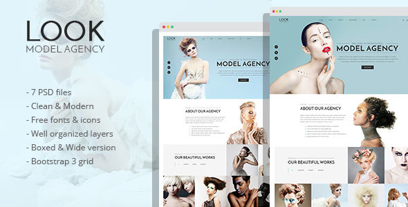 LOOK – Model Agency PSD Template