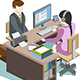 Business People on Desk - GraphicRiver Item for Sale