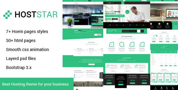 Hoststar  Responsive Web Hosting Website Templat