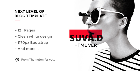 SUVD – Responsive Personal Blog Template