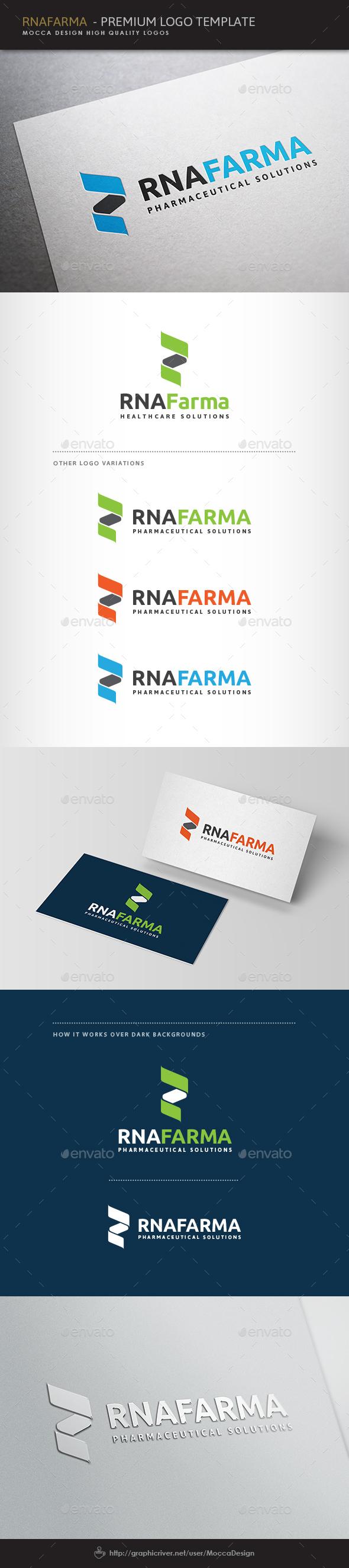 RNAfarma Logo - Vector Abstract