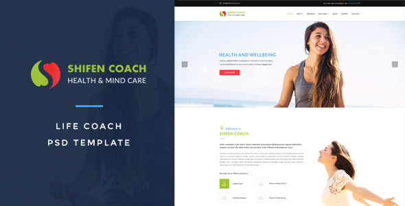 Shifen Coach : Life Coach PSD Template - Miscellaneous PSD Templates