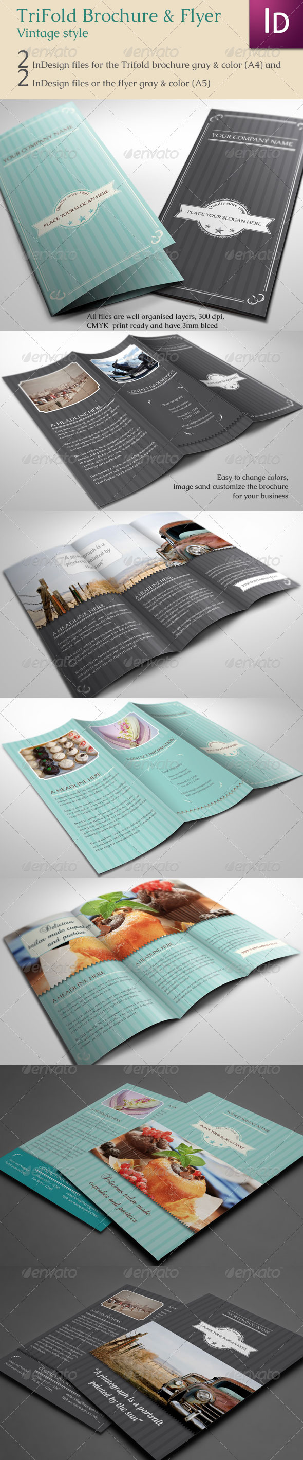 Trifold Brochure & Flyer Vintage - Corporate Brochures
