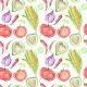 Vegetable Mexican Cuisine Pattern - GraphicRiver Item for Sale