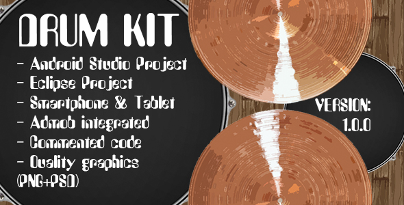 Drum Kit + Admob Ads (Android Studio + Eclipse) - CodeCanyon Item for Sale