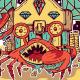 Treasure Crab T-Shirt Design - GraphicRiver Item for Sale