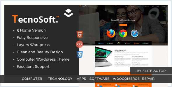 Computer WordPress theme  | Tecnosoft