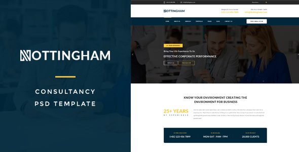 Download Free Nothingham : Consultancy PSD Template
