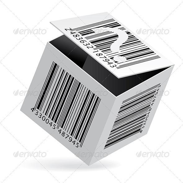 Bar code on box - Decorative Vectors