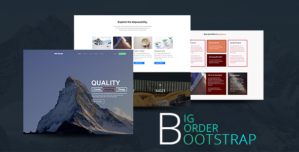 Creative One Page Parallax Bootstrap Template - BIG Border