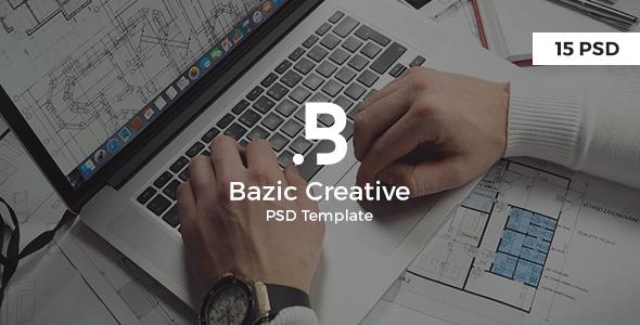 Bazic – Creative PSD Template