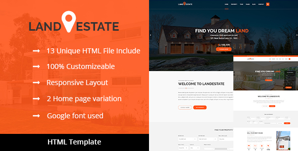 Land Estate – Real Estate/Properties HTML Template