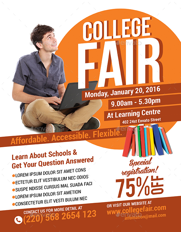 College Fair Flyer By Bumiputra Graphicriver