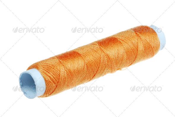 Orange Yarn - Stock Photo - Images