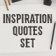 Inspirational Quotes Set + Extras - GraphicRiver Item for Sale