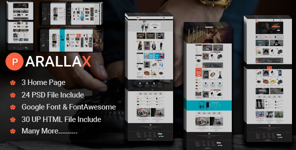 Prallax-Multipurpose eCommerce HTML Template - Shopping Retail