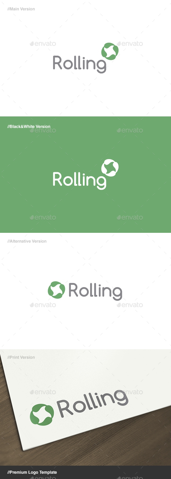 Rolling - Symbol Logo - Abstract Logo Templates