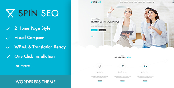 SPIN SEO – SEO & Business WordPress Theme!