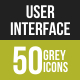 User Interface Greyscale Icons