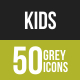 Kids Greyscale Icons