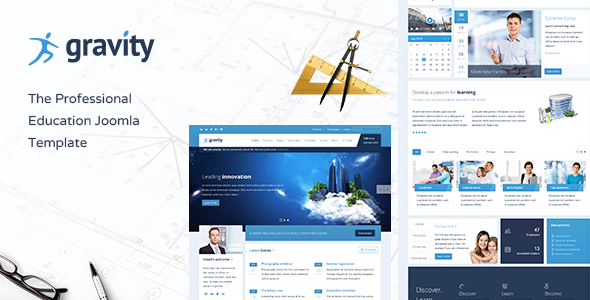Gravity - School, Education & Events Joomla Responsive Template