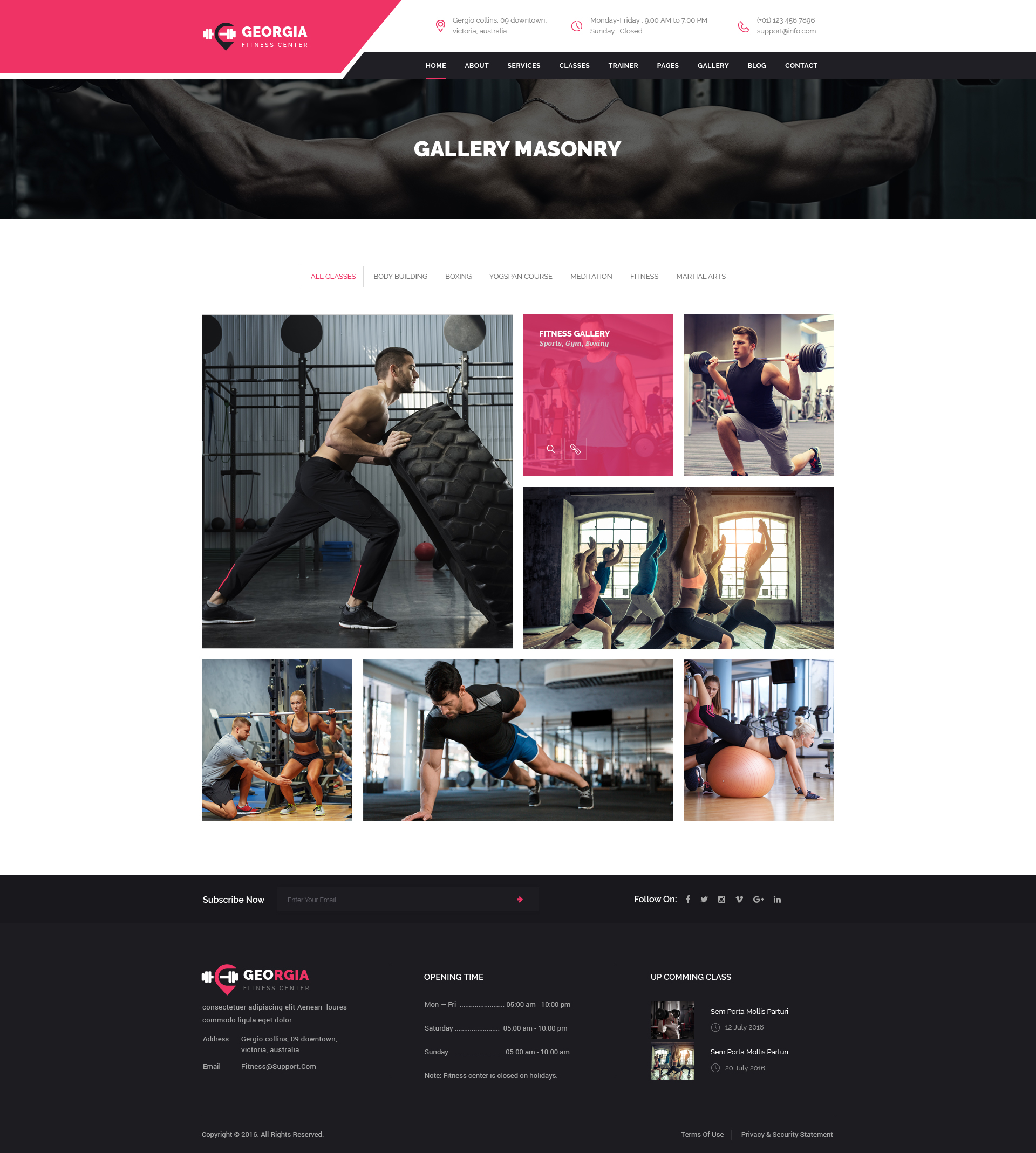 Georgio : Fitness PSD Template by VictorThemesNX | ThemeForest
