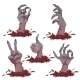 Set Of Zombie Hands For Halloween Party. Vector - GraphicRiver Item for Sale