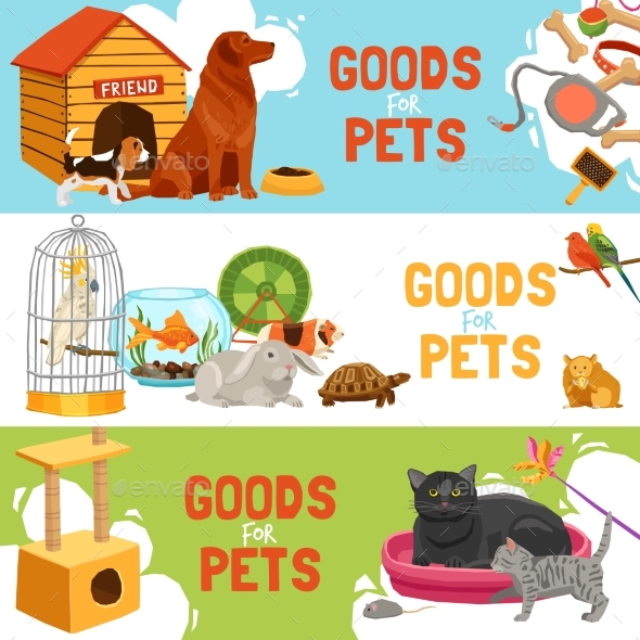 Goods For Pets Horizontal Banners