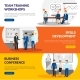 Business Training Consulting 3 Horizontal Banners - GraphicRiver Item for Sale