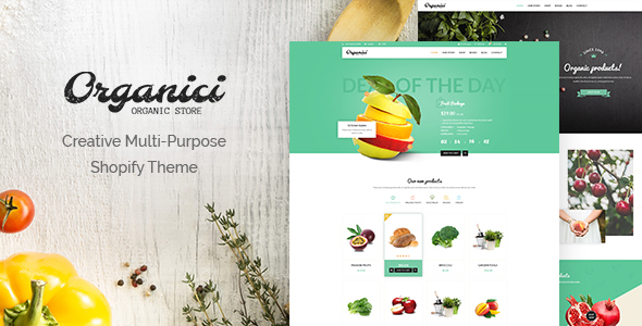 Organici – Creative Multi-Purpose Shopify Theme
